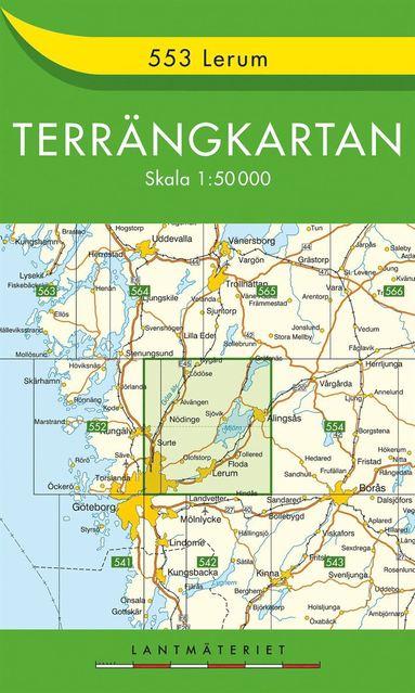 bokomslag 553 Lerum Terrängkartan : 1:50000
