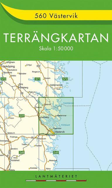 bokomslag 560 Västervik Terrängkartan : 1:50000
