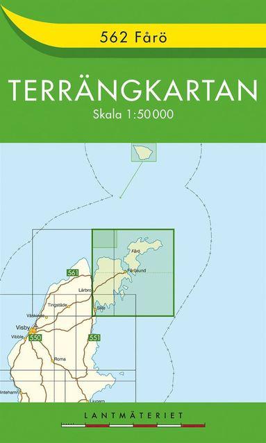 bokomslag 562 Fårö Terrängkartan : 1:50000