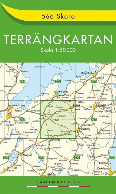 bokomslag 566 Skara Terrängkartan : 1:50000
