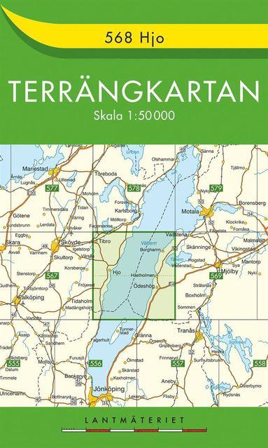 bokomslag 568 Hjo Terrängkartan : 1:50000