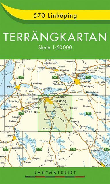 bokomslag 570 Linköping Terrängkartan : 1:50000