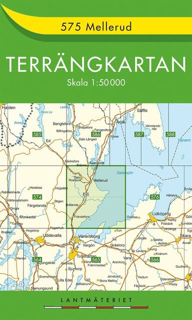 bokomslag 575 Mellerud Terrängkartan : 1:50000