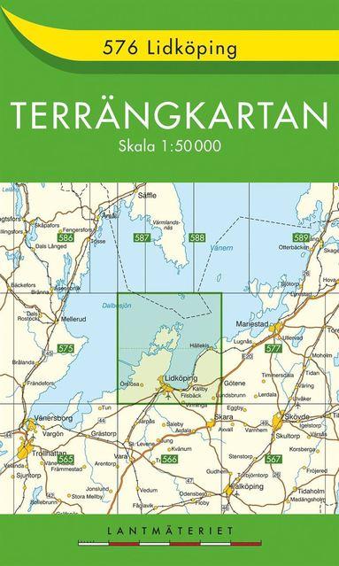 bokomslag 576 Lidköping Terrängkartan : 1:50000