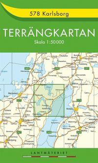 bokomslag 578 Karlsborg Terrängkartan : 1:50000
