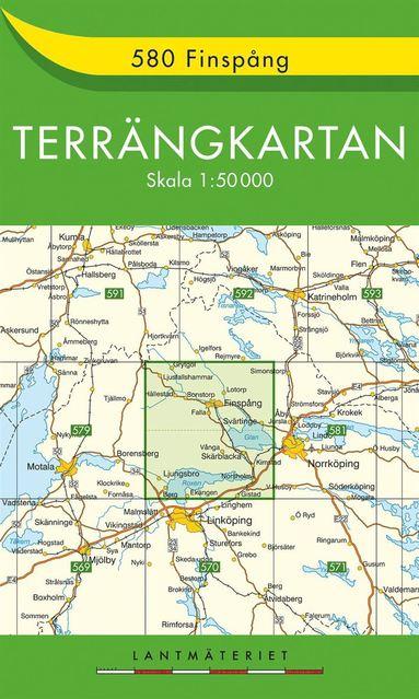 bokomslag 580 Finspång Terrängkartan : 1:50000