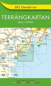 583 Stendörren Terrängkartan : 1:50000