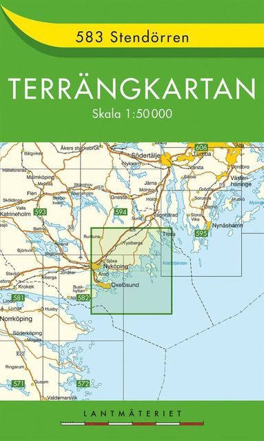 bokomslag 583 Stendörren Terrängkartan : 1:50000