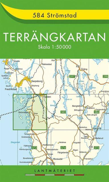 bokomslag 584 Strömstad Terrängkartan : 1:50000