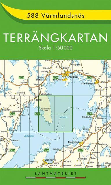 bokomslag 588 Värmlandsnäs Terrängkartan : 1:50000