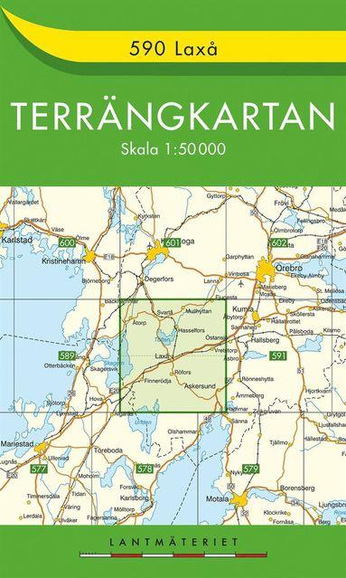 bokomslag 590 Laxå Terrängkartan : 1:50000