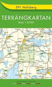 bokomslag 591 Hallsberg Terrängkartan : 1:50000