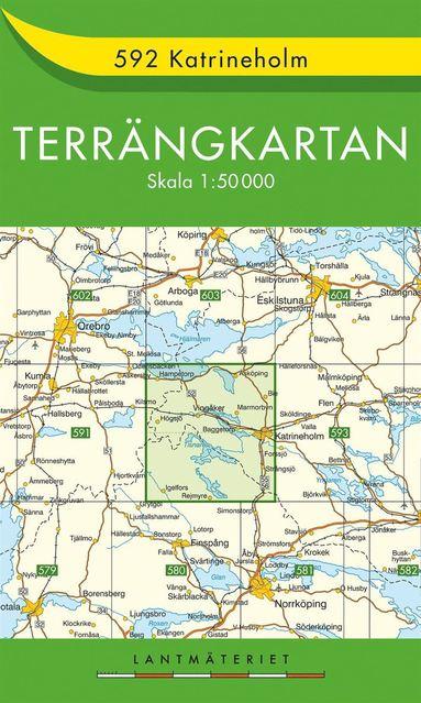 bokomslag 592 Katrineholm Terrängkartan : 1:50000