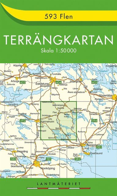 bokomslag 593 Flen Terrängkartan : 1:50000