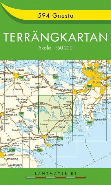 bokomslag 594 Gnesta Terrängkartan : 1:50000