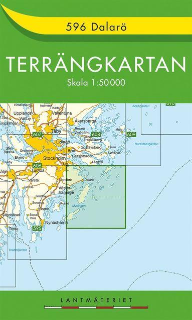 bokomslag 596 Dalarö Terrängkartan : 1:50000