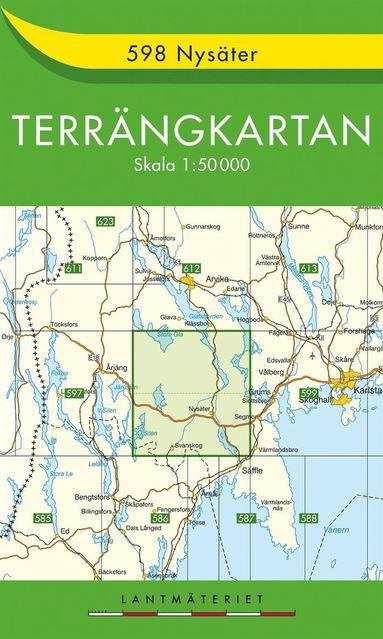 bokomslag 598 Nysäter Terrängkartan : 1:50000