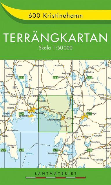 bokomslag 600 Kristinehamn Terrängkartan : 1:50000