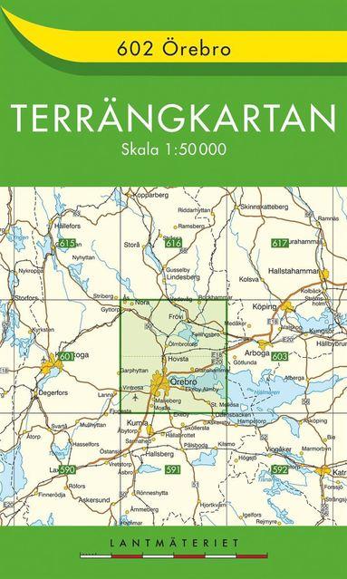 bokomslag 602 Örebro Terrängkartan : 1:50000