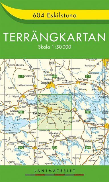bokomslag 604 Eskilstuna Terrängkartan : 1:50000