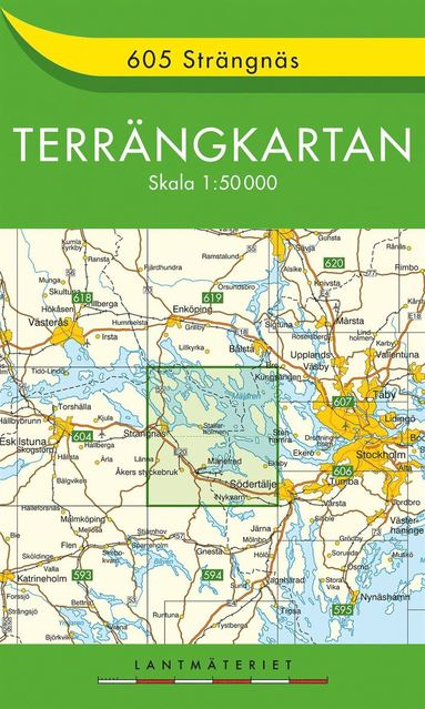 bokomslag 605 Strängnäs Terrängkartan : 1:50000