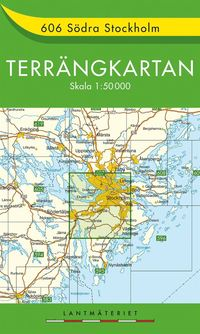 bokomslag 606 Södra Stockholm Terrängkartan : 1:50000
