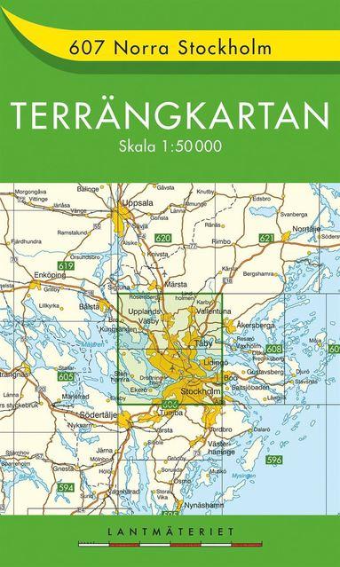 bokomslag 607 Norra Stockholm Terrängkartan : 1:50000