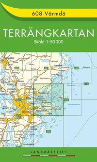 bokomslag 608 Värmdö Terrängkartan : 1:50000