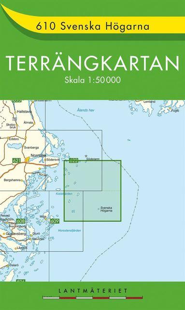 bokomslag 610 Svenska Högarna Terrängkartan : 1:50000