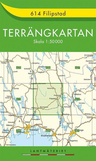 bokomslag 614 Filipstad Terrängkartan : 1:50000
