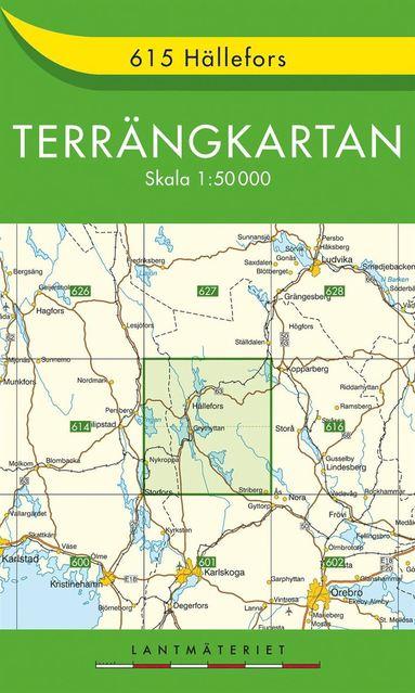 bokomslag 615 Hällefors Terrängkartan : 1:50000