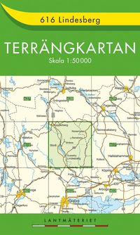 bokomslag 616 Lindesberg Terrängkartan : 1:50000