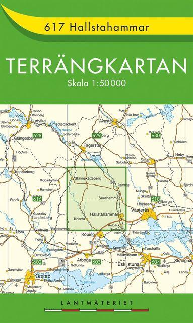 bokomslag 617 Hallstahammar Terrängkartan : 1:50000
