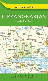 bokomslag 618 Västerås Terrängkartan : 1:50000