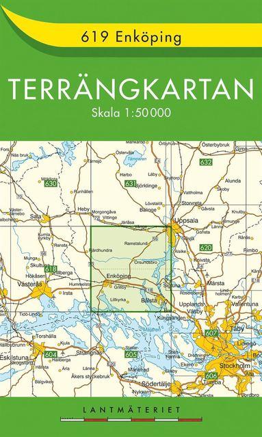 bokomslag 619 Enköping Terrängkartan : 1:50000