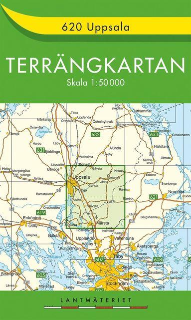 bokomslag 620 Uppsala Terrängkartan : 1:50000