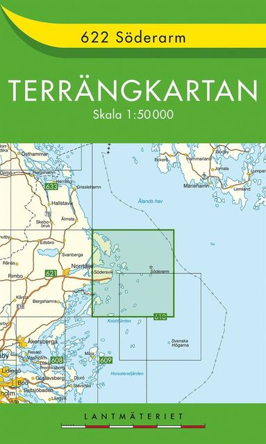 bokomslag 622 Söderarm Terrängkartan : 1:50000