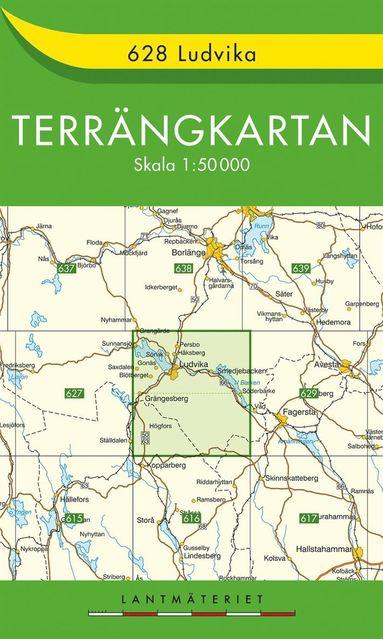 bokomslag 628 Ludvika Terrängkartan : 1:50000