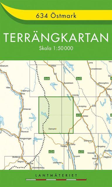 bokomslag 634 Östmark Terrängkartan : 1:50000