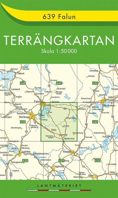 bokomslag 639 Falun Terrängkartan : 1:50000