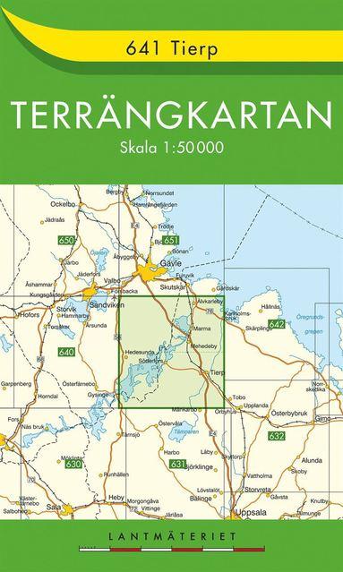 bokomslag 641 Tierp Terrängkartan : 1:50000