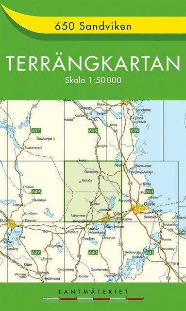 bokomslag 650 Sandviken Terrängkartan : 1:50000