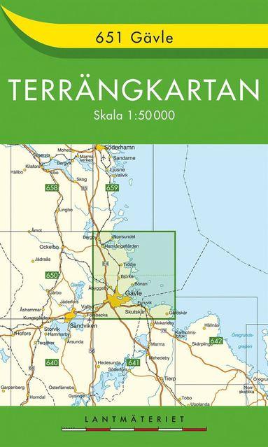 bokomslag 651 Gävle Terrängkartan : 1:50000