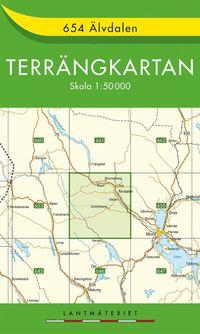 654 Älvdalen Terrängkartan : 1:50000
