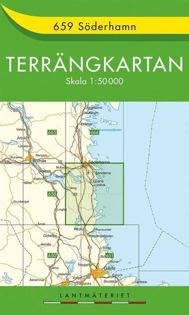 bokomslag 659 Söderhamn Terrängkartan : 1:50000