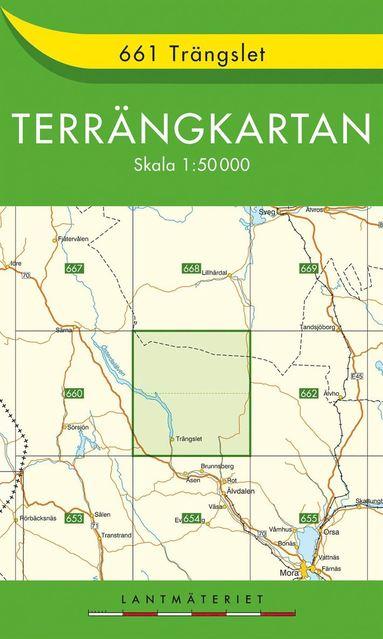 bokomslag 661 Trängslet Terrängkartan : 1:50000