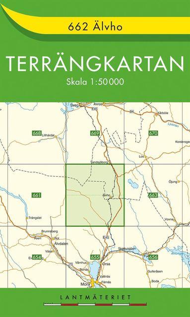 bokomslag 662 Älvho Terrängkartan : 1:50000