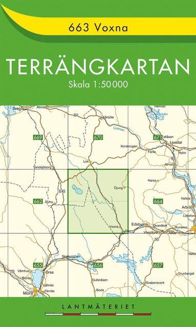 bokomslag 663 Voxna Terrängkartan