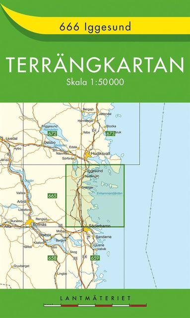 bokomslag 666 Iggesund Terrängkartan : 1:50000
