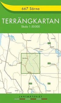 bokomslag 667 Särna Terrängkartan : 1:50000